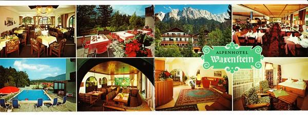 hotel waxenstein grainau klapp werbe ak 25297 sonstiges 8100 plz 8100 plz 8 bayern. Black Bedroom Furniture Sets. Home Design Ideas