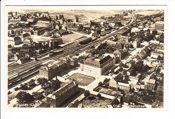 Weiden Bahnpost Hof München 1938 Bessere Luftaufnahme