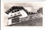 "Berchtesgaden, Obersalzberg, O-Foto für US Soldaten ""Hitlers House before the war"" deutsch, gelaufen augenscheinlich sehr gutes Notopfer, Einriss 3 mm"
